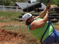 Cheryl Connelly Collins Zip Lining at the Orr Family Farm